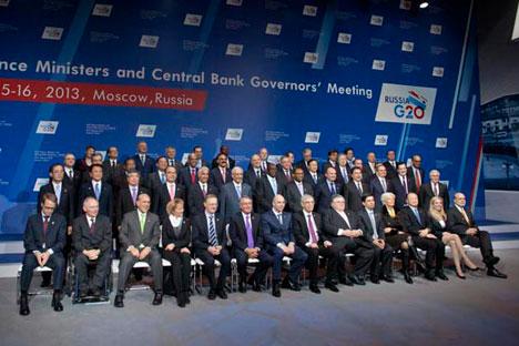 Teilnehmer des Treffens der Finanzminister und Notenbankgouverneure der G20-Länder in Moskau. Foto: Ricardo Marquina, Russland HEUTE