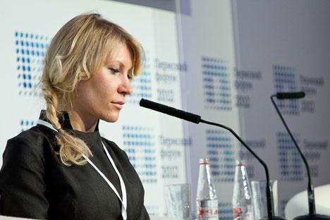 "Aljona Popowa, Gründerin des Start-Ups ""Gov2People"". Foto: Pressebild"