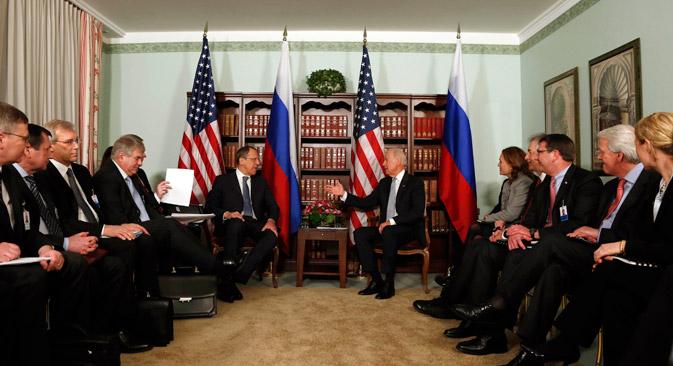 Auf der Münchner Sicherheitskonferenz standen auch die russisch-amerikanischen Beziehungen im Fokus. Foto: AP
