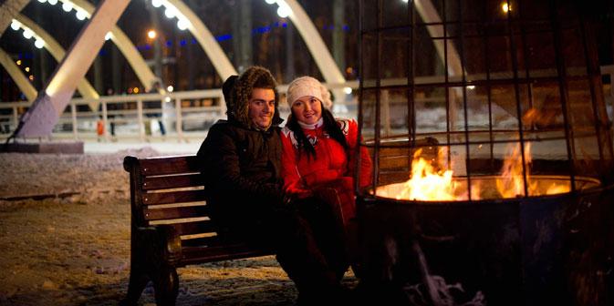 In Moskau es gibt genügend Orten um Valentinstag zu feiern. Foto: RIA Novosti