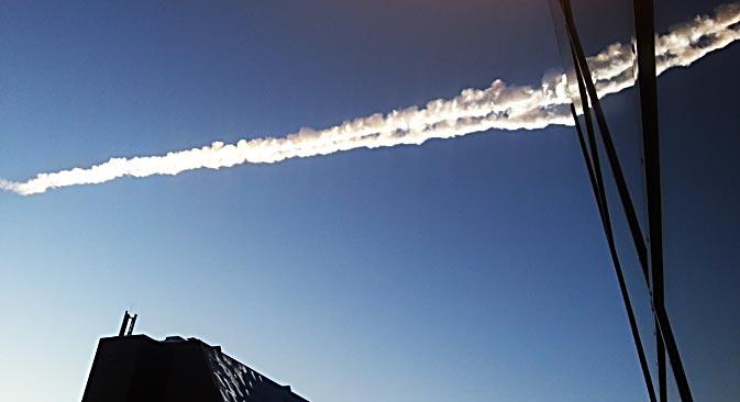 Ein Meteorit war gegen 04:20 Uhr MEZ am Ural niedergegangen. Foto: ITAR-TASS