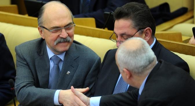 Wladimir Pechtin (links). Foto: ITAR-TASS