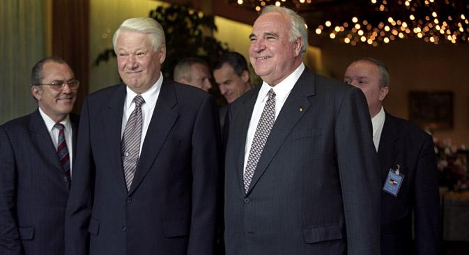 1998 hätte Präsident Jelzin während der Verhandlungen mit Helmut Kohl dem Deutschen beinahe ein Exemplar der in den Archiven der Lomonossow-Universitätsbibliothek aufbewahrten Gutenberg-Bibel geschenkt. Foto: RIA Novosti / Vladimir Rodionov