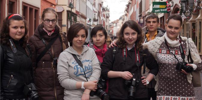 """Teilnehmer des Projekts """"Wir leben auf dieser Erde"""" zu Besuch in Heidelberg. Foto: Amwrosij Chramow"""