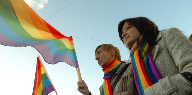 LGBT-Kundgebung: Häufig kommt es zu Konflikten zwischen Demonstranten, Gegendemonstranten und der Polizei. Foto: Kommersant