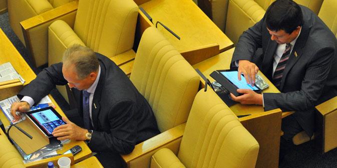 """Digitale Diplomatie wird vom russischen Außenministerium als """"Instrument der russischen Außenpolitik, das dazu dient, auf die öffentliche Meinung unter Benutzung von Informations- und Kommunikationstechnologien einzuwirken"""" definiert.Foto: Kommersant"""