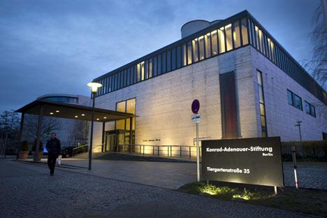 """Nach Ansicht von Lars Peter Schmidt, Leiter der Moskauer Filiale der Konrad-Adenauer-Stiftung, sind die deutschen Vertretungen im Zuge der NGO-Kontrollen """"einfach dazwischen gekommen"""". Foto: AFP / East News"""