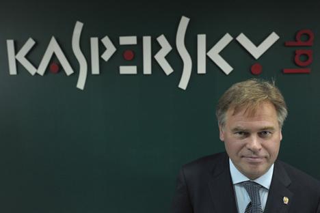 Jewgeni Kasperski: Ich sehe keinen Sinn darin, Anteile unseres Unternehmens zu verkaufen. Foto: RIA Novosti