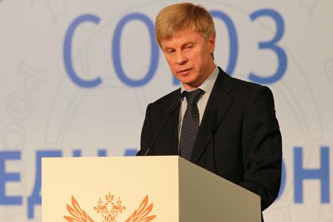 Der Präsident des Russischen Fußballverbands Nikolai Tolstych. Foto: RIA Novosti