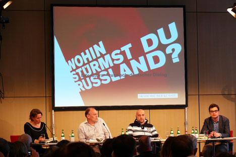 Bekannte russische Schriftsteller haben in Berlin die Zukunft Russlands besprochen. Foto: Alexandra Gurkowa