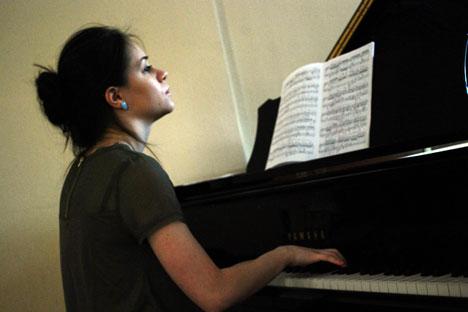 Die Pianistin Polina Krymskaja. Foto: Dmitri Saika