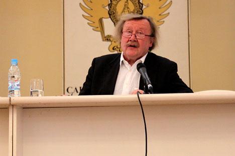 Der Philosoph Peter Sloterdijk hat am 19. April vor hunderten russischen Studenten gesprochen. Foto: Pauline Tillmann