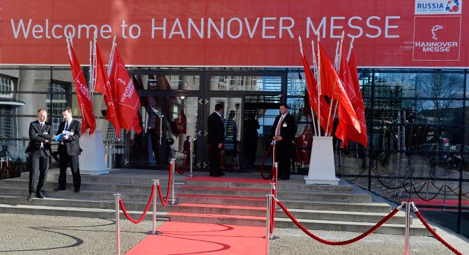 In diesem Jahr ist Russland zum zweiten Mal nach 2005 Partnerland der Hannover Messe. Foto: AFP / East News