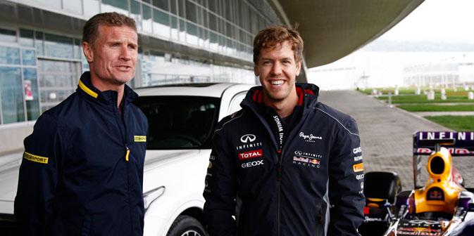 Sebatian Vettel und David Coulthard in Sotschi. Foto: Wladimir Anosow
