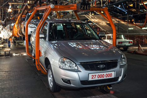 Modelo comercial do Granta já foi recomendado inclusive pelo presidente russo Vladímir Pútin Foto: RIA Nóvosti