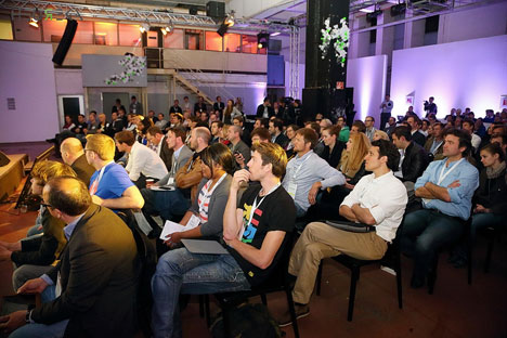 Young entrepreneurs at the Heureka start-up conference in Berlin. Source: Vertical Media