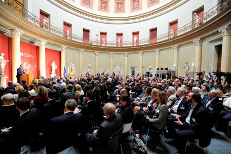 Der russische Außenminister Sergej Lawrow während des  Deutsch-Russischen Forums in Berlin. Foto: Deutsch-Russisches Forum e.V