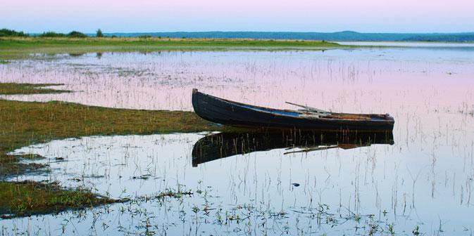 Archangelsk befindet sich an der Mündung der Nördlichen Dwina ins Weiße Meer. Foto: Iwan Malkin