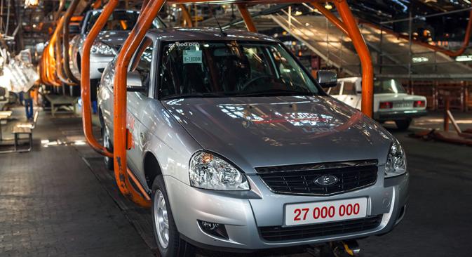 Während für die nahe Zukunft in Europa mit einem eher stagnierenden Wachstum zu rechnen ist, profitiert Russlands Automarkt von der niedrigen Marktsättigung. Foto: RIA Novosti