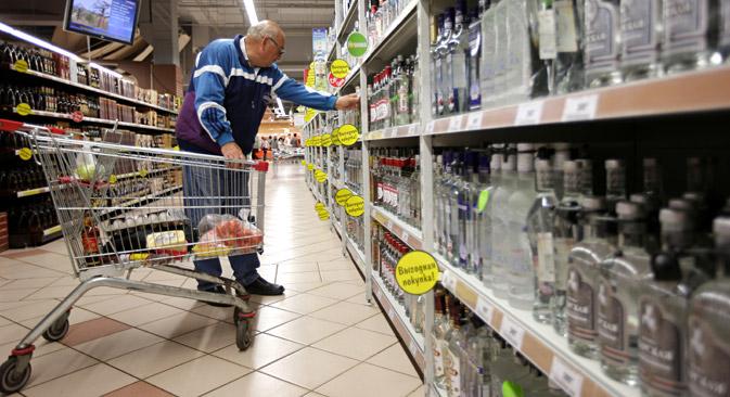 Russland könnte den Export mit solchen typischen russischen Erzeugnissen, wie zum Beispiel Wodka ankurbeln. Foto: RIA Novosti