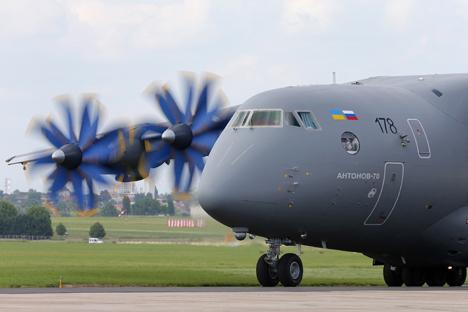 Das russische Transportflugzeug An-70. Foto: Reuters