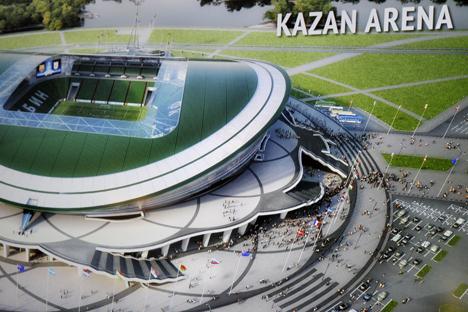 Kazan é uma das cidades russas que está com preparativos avançados para receber a Copa 2018 Foto: ITAR-TASS