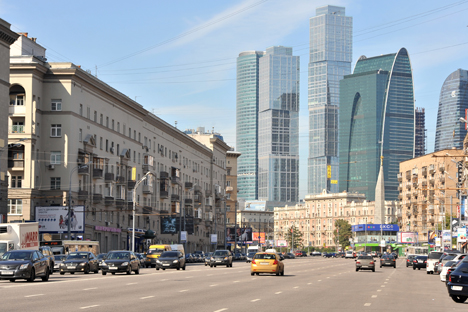 Die Glastürme von Moscow City gelten als Symbol von Wandel und Modernisierung. Foto: ITAR-TASS