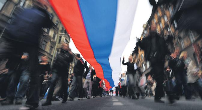 """Boris Jelzin wollte den 12. Juni zu einem russischen """"Independence Day"""" machen: Den Tag, an dem Russland seinen Austritt aus der Sowjetunion erklärte. Foto: ITAR-TASS"""