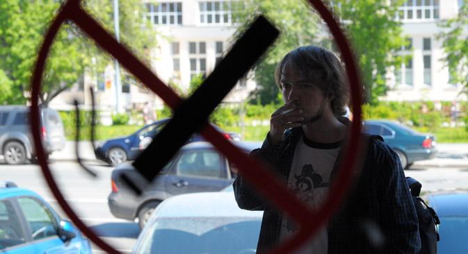 Mit dem neuen Gesetz will das Gesundheitsministerium die Zahl der Todesfälle durch Tabak von den derzeit jährlichen 400 000 auf 150 000 bis 200 000 absenken. Foto: RIA Novosti