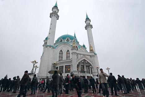 Die zweitgrößte Moschee Russlands -  die Kul-Scharif-Moschee in Kasan.  Foto: ITAR-TASS