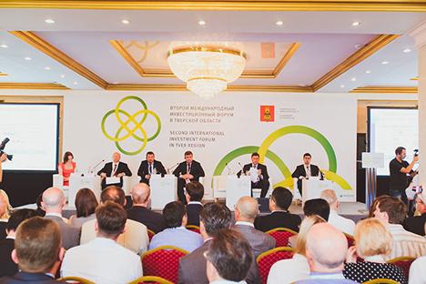 Das II. Internationale Investitionsforum des Gebietes Twer fand Ende Juni statt. Foto: Yuri Surin/jury-tver.livejournal.com/Tverigrad.ru