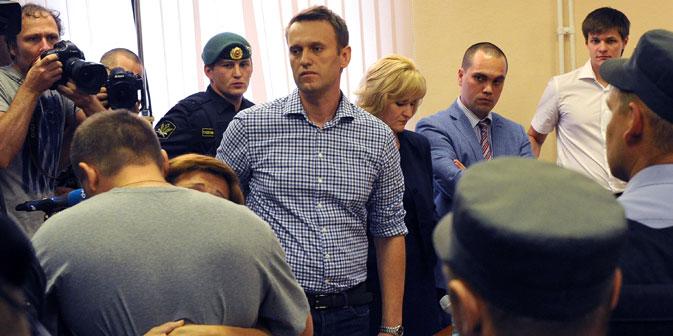 Alexey Nawalny hatte zuletzt in seinem Schlusswort die Vorwürfe als konstruiert und Teil einer gegen ihn gerichteten politischen Intrige bezeichnet. Foto: RIA Novosti