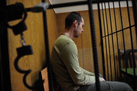 Der Jurist Dmitri Winogradow hat im November 2012 sechs seiner Kollegen in einer Moskauer Apotheke erschossen. Foto: Surab Dschawachadse, Rossijskaja Gaseta