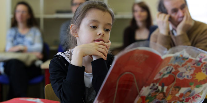 Um die Schüler wieder mehr zum Lernen zu motivieren, wurde in den Schulen das System eines fachorientierten Unterrichts eingeführt. Foto: ITAR-TASS