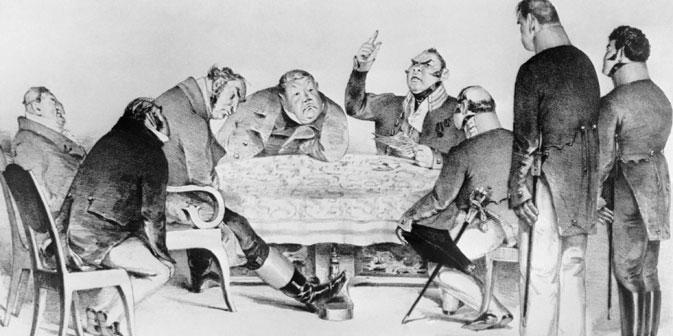 """Korrupte Beamte waren in Russland schon seit dem Mittelalter ein Problem. // Eine Illustration zur Komödie """"Der Revisor"""" von Nikolaj Gogol.  Foto: ITAR-TASS"""