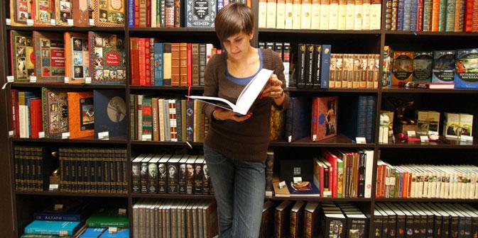 Gesellschaftskritik, Sachbücher und Science-Fiction machen die russische Literatur der Gegenwart aus. Foto: RIA Novosti