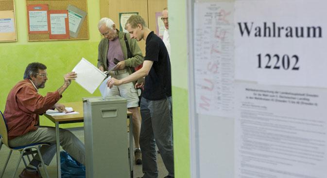 Russlanddeutsche stellen die größte Gruppe der deutschen Staatsbürger mit Migrationshintergrund, bleiben aber größtenteils unpolitisch. Foto: AFP/East News