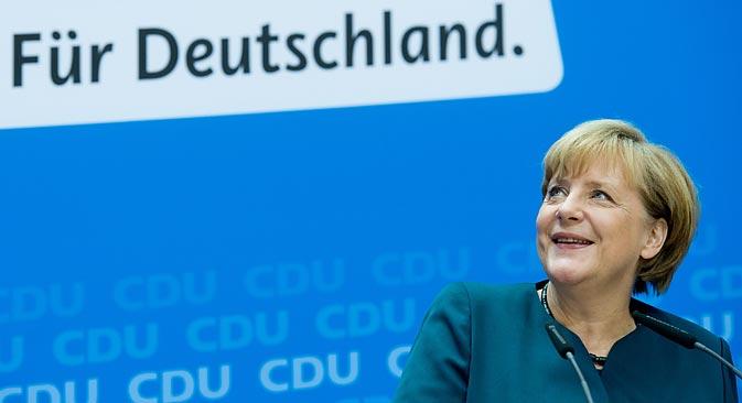 Merkels Entscheidung für diese oder jene Koalition spielt eine große Rolle für die deutsche Außenpolitik. Foto: DPA