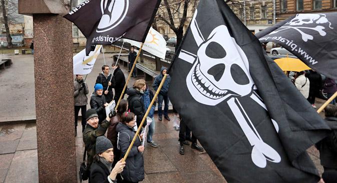 Eine öffentliche Initiative, die gegen das Anti-Piraterie-Gesetz gerichtet war, brachte insgesamt 100 000 Unterschriften russischer Bürger zustande. Foto: ITAR-TASS