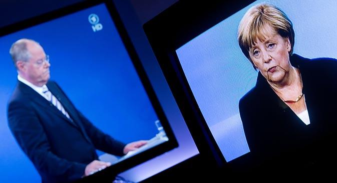 Die Bundestagswahl ist für die deutsch-russischen Beziehungen bedeutend, doch Russland wird kaum thematisiert. Foto: dpa