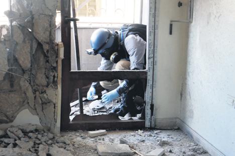 Bisher ist es ungeklärt, von wem das Giftgas Sarin bei Damaskus verwendet wurde. Foto: AFP / East News