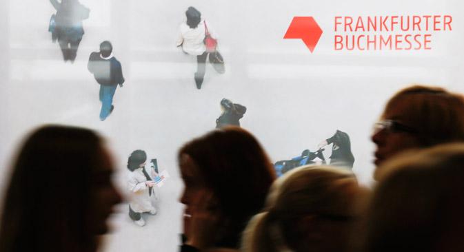 Auf der Frankfurter Buchmesse sucht der russische Gemeinschaftsstand nach Übersetzern für russische Literatur. Foto: AP