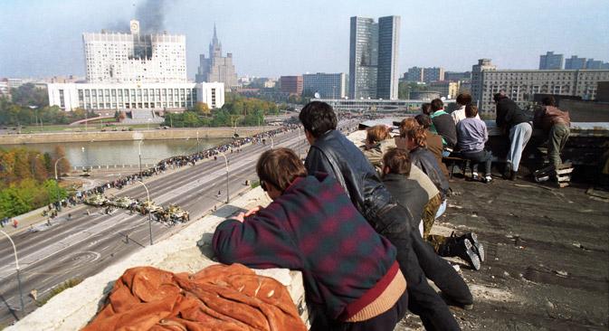Umfangreiche Befugnisse des russischen Präsidenten sind noch heute auf die Verfassungskrise im Herbst 1993 zurückzuführen. Foto: ITAR-TASS