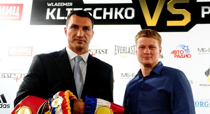 Am 5. Oktober versucht der Russe Powetkin in Moskau, die Dominanz der Klitschko-Brüder zu beenden. Foto: ITAR-TASS