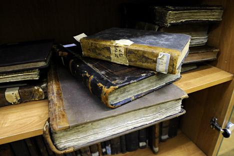 Die Schneersohn-Bibliothek wird im Jüdischen Museum in Moskau für Forscher und die Öffentlichkeit zugänglich. Foto: ITAR-TASS