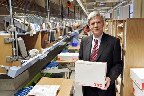 Michael Otto will mit der Otto Group in Russland bald die Schallmauer von einer Milliarde Euro Umsatz durchbrechen. Foto: DPA/AFP/East News