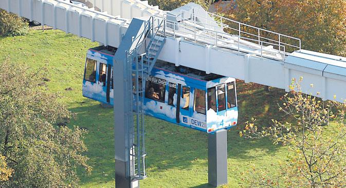 Die H-Bahn erfordert eine völlig neue Infrastruktur. Foto: Pressebild