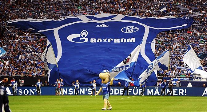 """Der Wert der Marke """"Gazprom"""" wird auf rund 30 Millionen Euro geschätzt. Foto: Imago / Legion Media"""