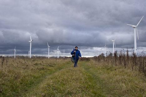 Deutsche bauen in Nordrussland einen der größten europäischen Windparks. Foto: ITAR-TASS