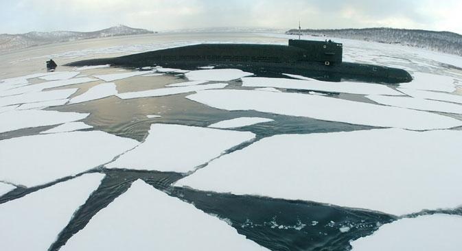Die russische Armee wird Truppen in die Arktis versetzen, gab Präsident Putin bekannt. Foto: RIA Novosti